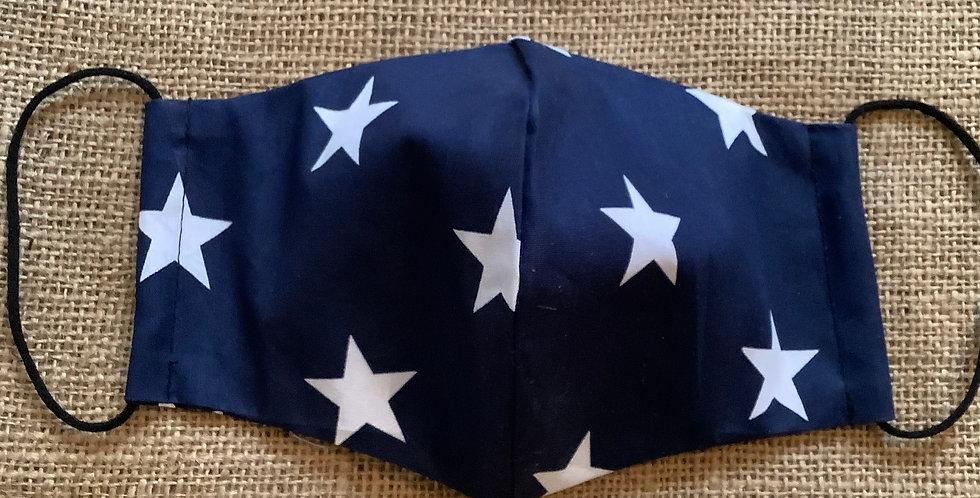 Men's Navy Stars Face Mask