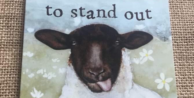 Sheep Plaque - You were born to stand out