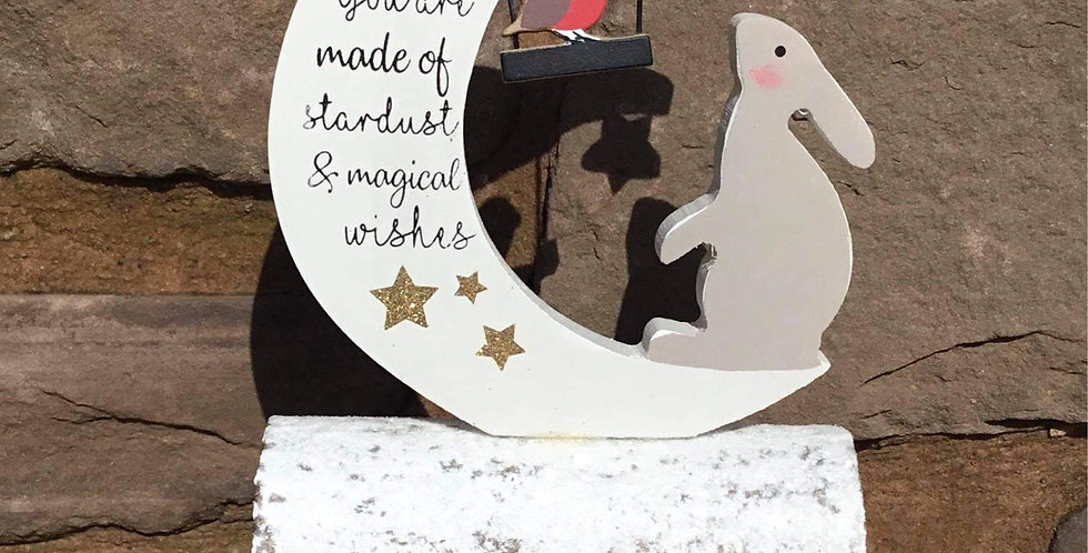 Christmas Hare - You are made of stardust & magical wishes