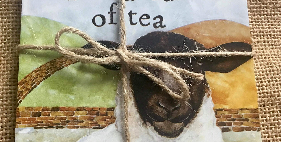 Two Sheep Coasters - Ewe me and a cup of tea