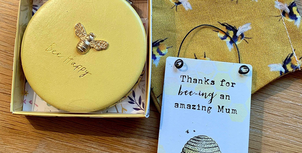 Bee Face Mask, compact and mini sign gift set