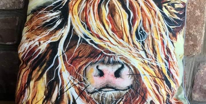 Highland Cow Cushion 45x45