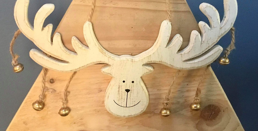 Jolly Hanging Moose Decoration