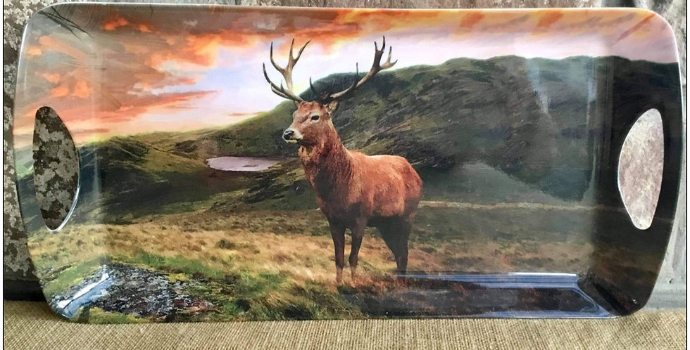 Highland Stag by Lake Sandwich Tray