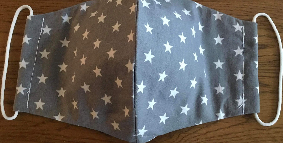 Grey Stars Face Mask