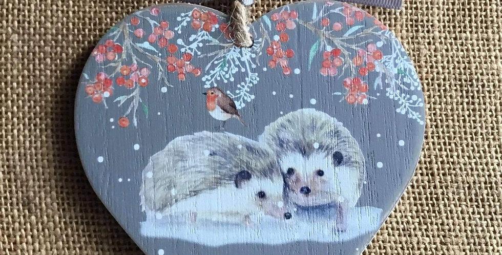 Hedgehogs Heart plaque