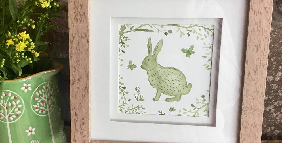 Sage Hare Framed Print