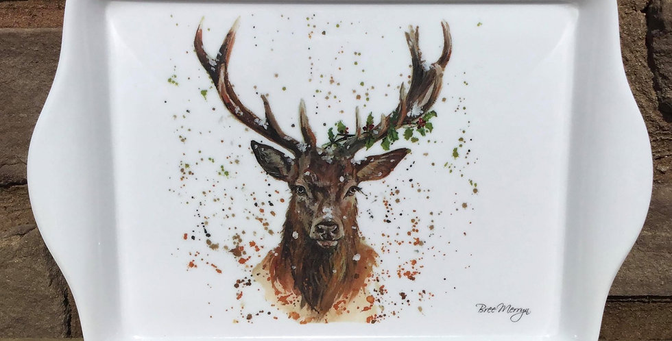 Winter Stag Snack Tray