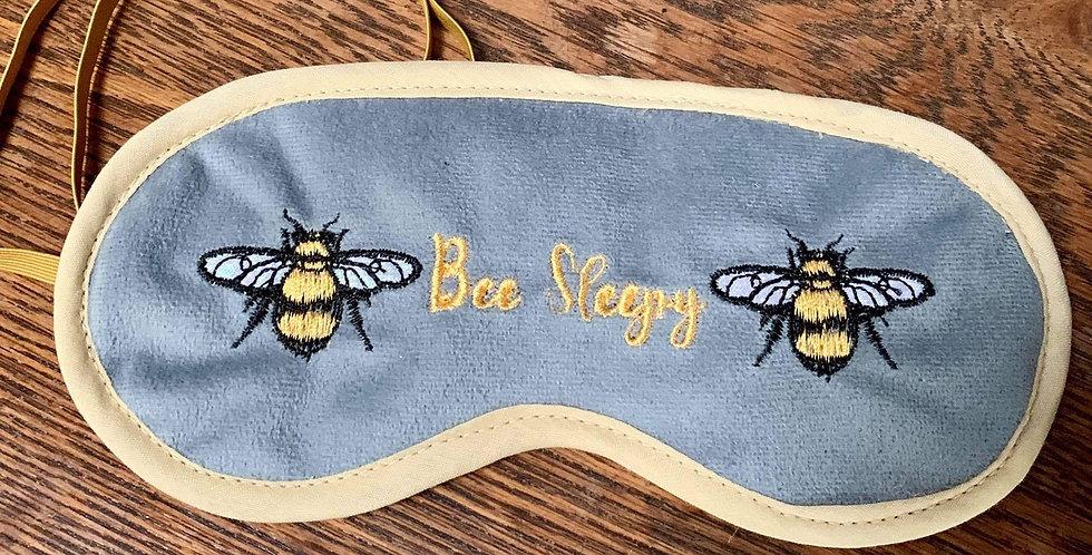 Bee Sleepy grey velvet Bee sleep mask