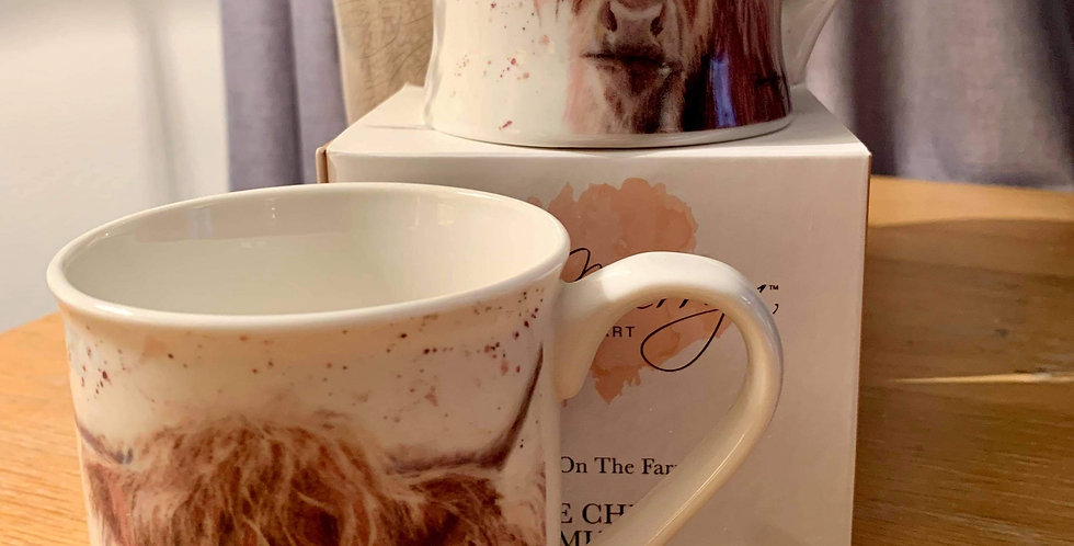 Pair of Highland Cow Mugs by Bree Merryn