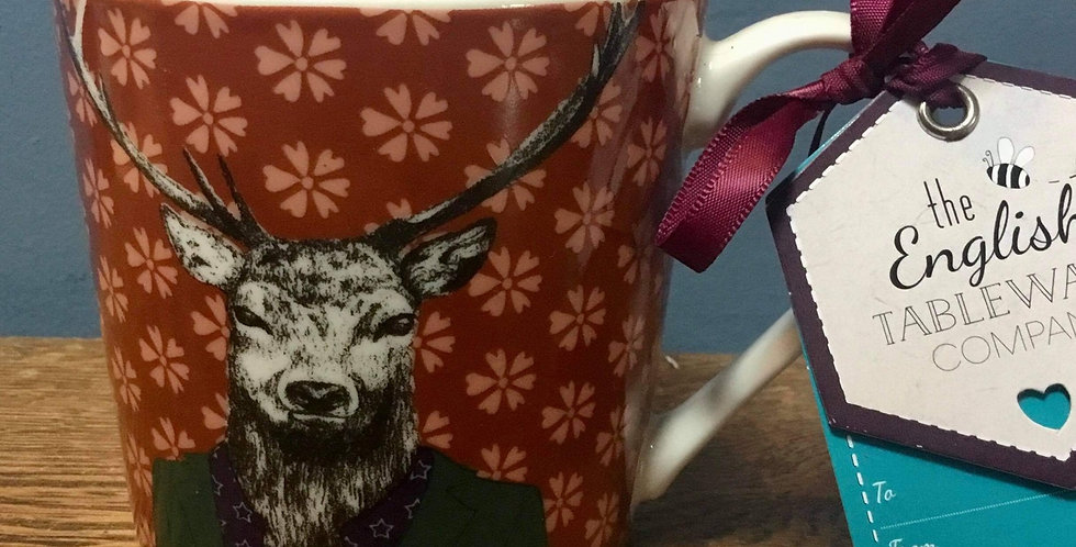 Stag Mug in cinnamon