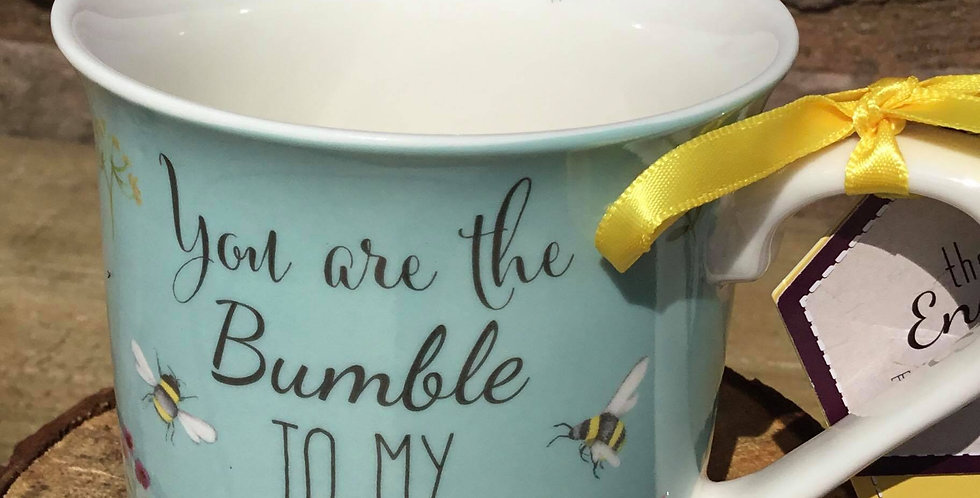 Blue China Mug, 'You are the Bumble to my Bee'