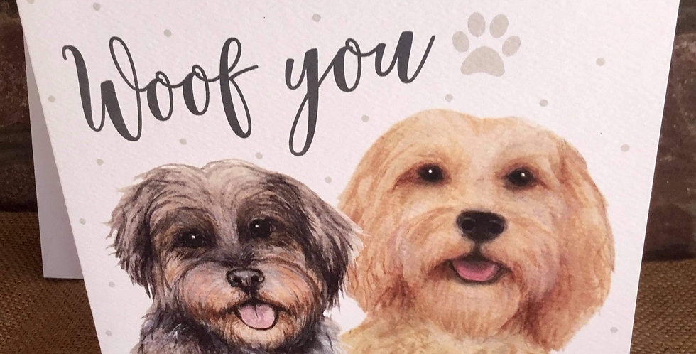 Woof You Greetings Card