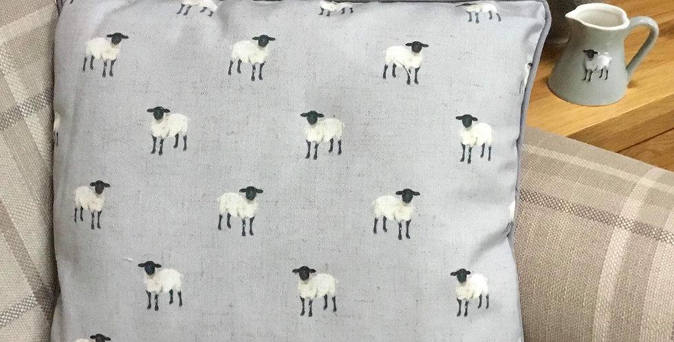 Grey Sheep Cushion 45x45cm