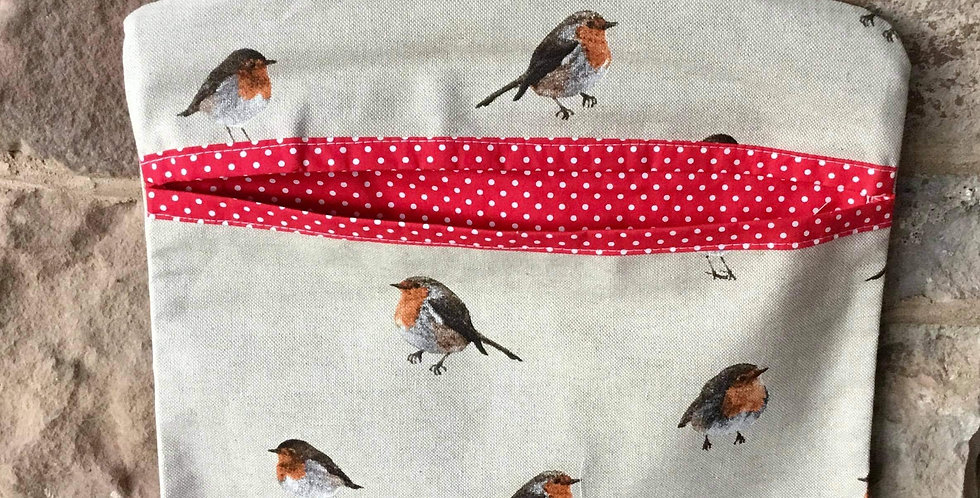 Robin Cotton Linen Peg Bag