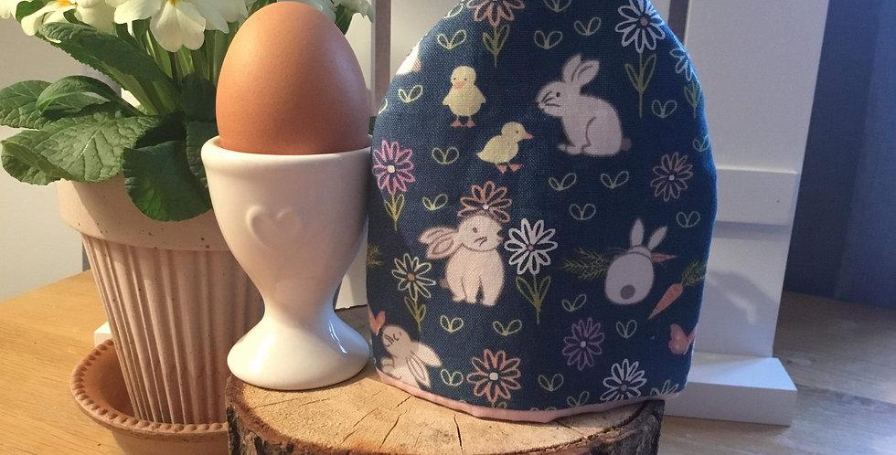 Single Blue Bunnies Egg Cosy