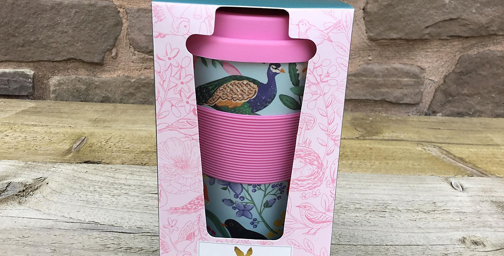 Bamboo British Birds Travel Cup