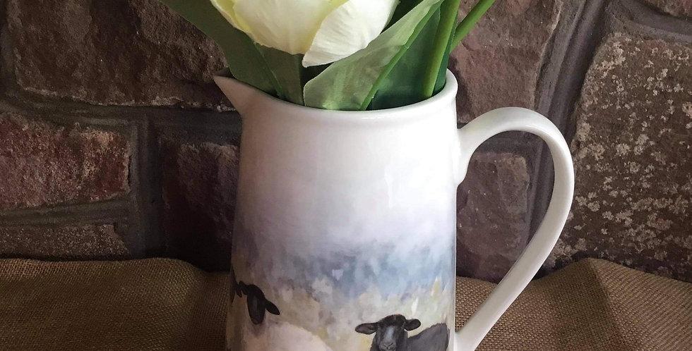 Country Sheep Flower Jug