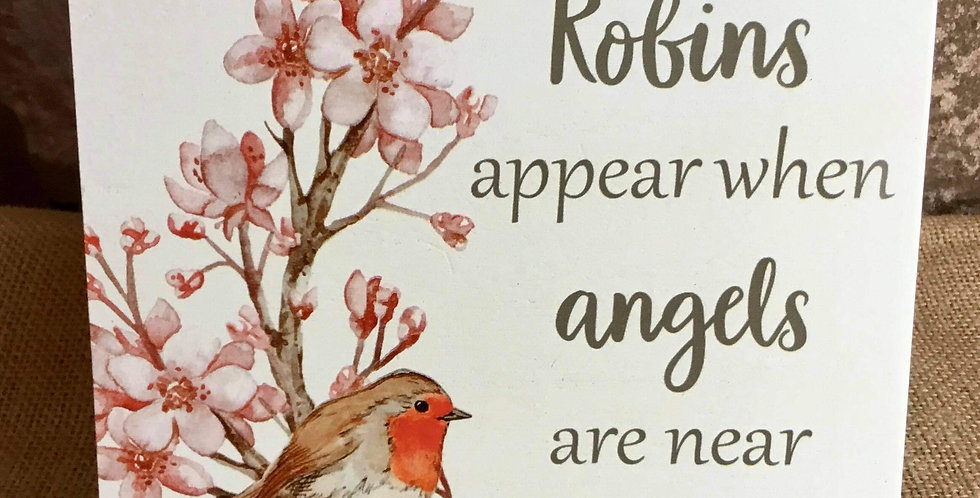 Robin Plaque - Robins appear when Angels are near