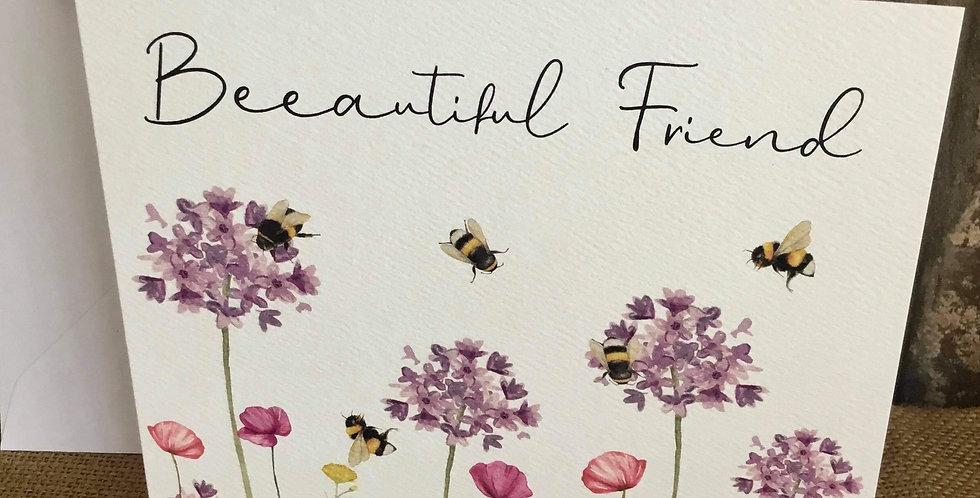 Beautiful Friend Bees Greetings Card