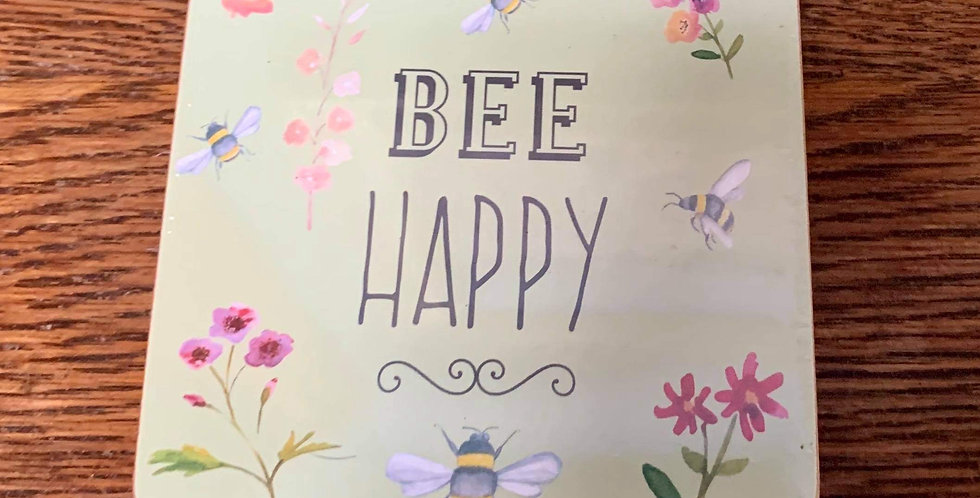 Bee Happy Coasters
