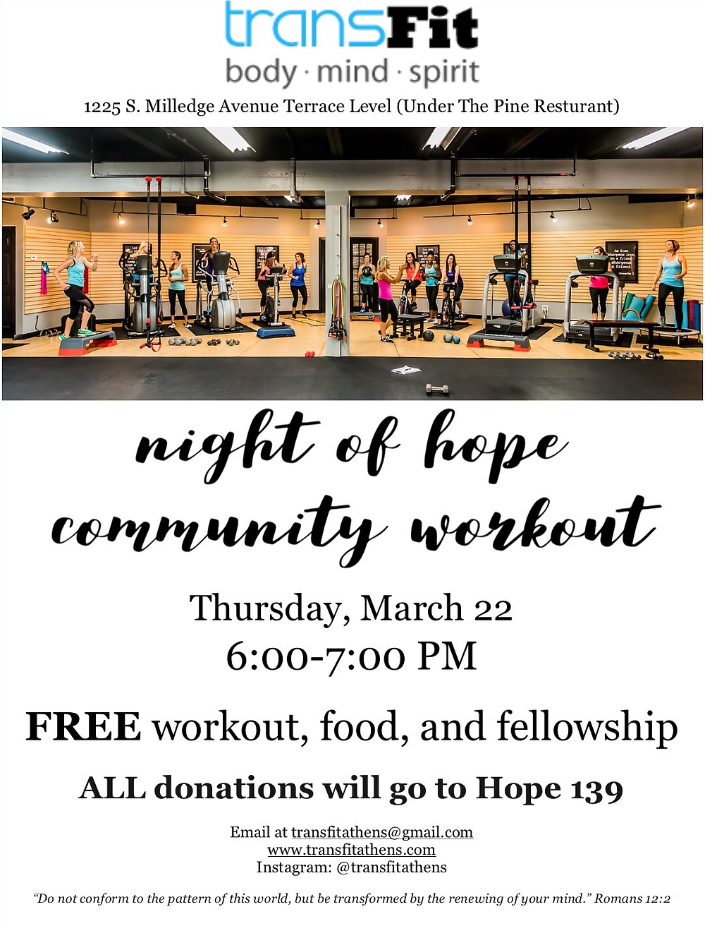 TransFit Workout and Fundraiser