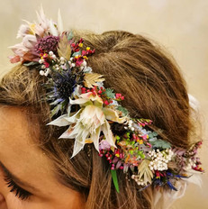 headband fleuri de mariage Pimprenelle Troyes