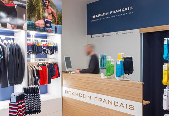 INTERIEUR BOUTIQUE GARCON FRANCAIS PARIS
