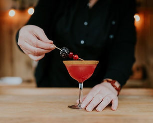 Your first taste of a cocktail is with y