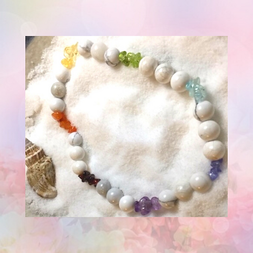 A Rainbow in the Clouds Meditation Bracelet