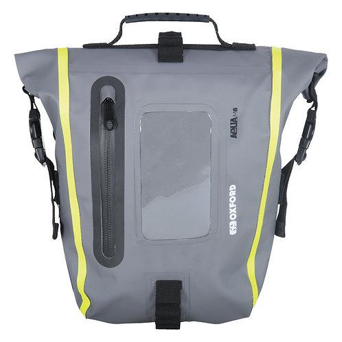Oxford Aqua M8 Tank Bag Black/ Grey/ Fluo