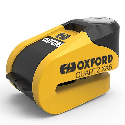 Oxford Quartz XA6 Alarm Disc Lock Yellow Black