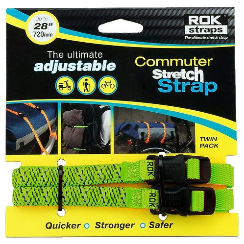 RoK Straps LD 12mm Adj Green reflective