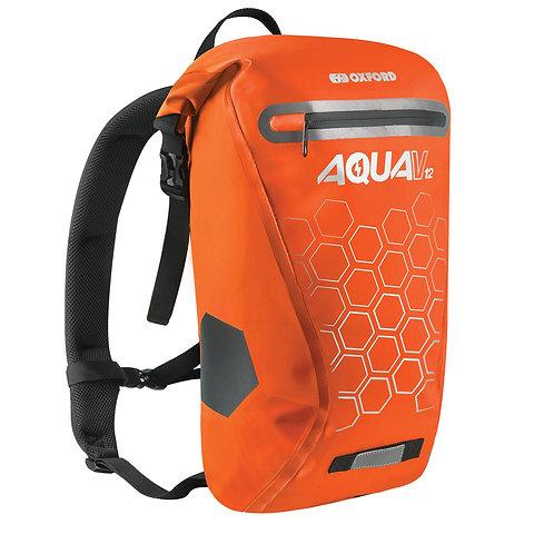 Oxford Aqua V 12 Waterproof Backpack Orange