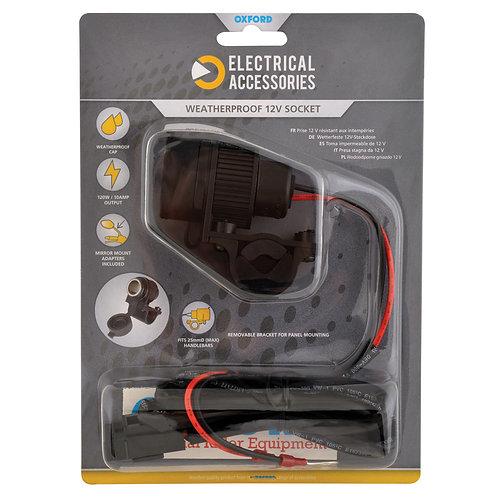 Oxford 12V STD Accessory Plug Socket and 1.2mtr 10amp fused