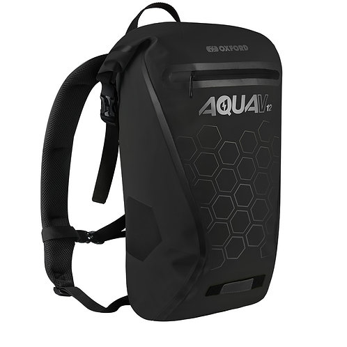 Oxford Aqua V 12 Waterproof Backpack Black