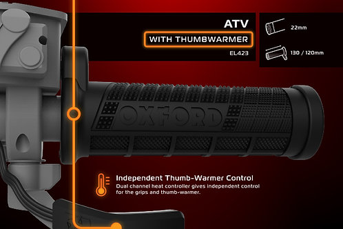 Oxford Hotgrips Evo - ATV With Thumb Warmer EL423