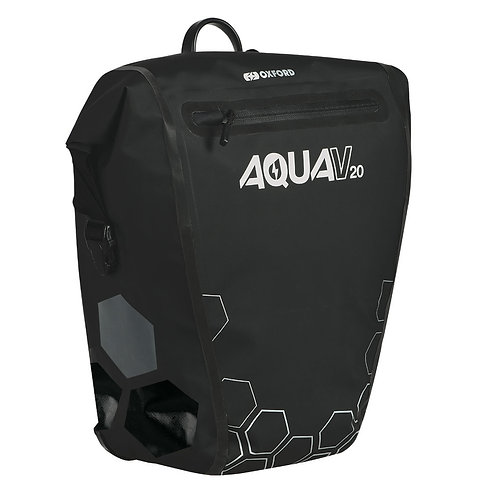 Oxford Aqua V 20 Single QR Pannier Bag Black