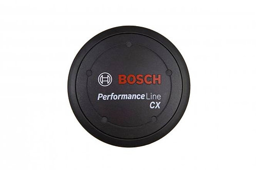 Performance Line CX logo cover, black, including spacer ring, if design cover is