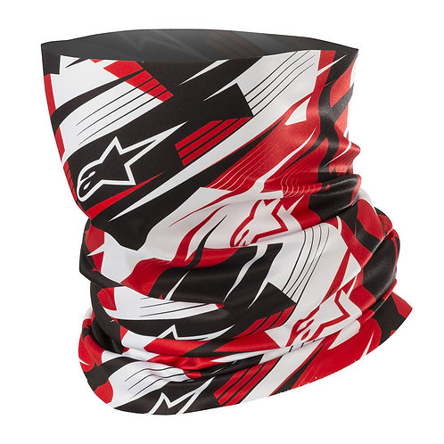 Alpinestars Blurred Neck Tube Black W/Red