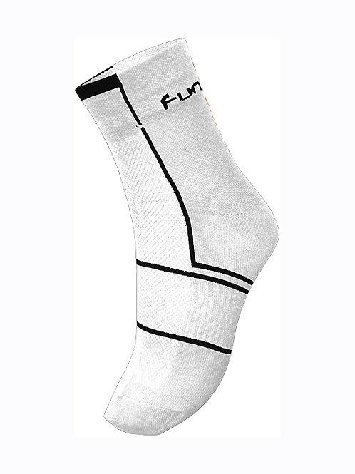 "Funkier Forano Airflow 5"" Summer Socks in White"