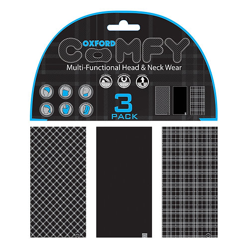 Oxford Comfy Black&White Tartan 3-Pack
