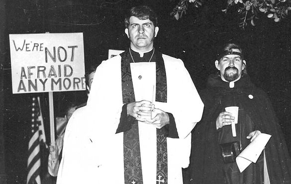REVEREND TROY PERRY HOLLYWOD PROTES, 1969, Gus Bernadicou, August Bernadicou