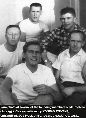 KONRAD STEVENS BOB HULL, JIM GRUBER, CHUCK ROWLAND, Mattachine Founders, Mattachine 1952