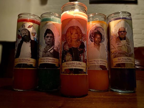 gay saint candle, lgbtq candle, gay candles, lgbtq activist candles, gay activist candle, gay christian candles