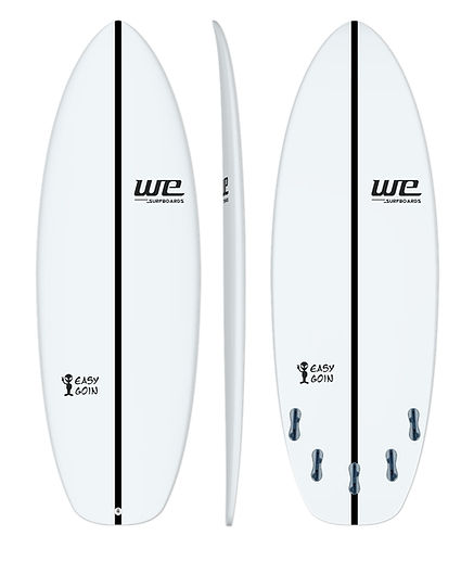 Easy goin wesurfboards prancha de surf para iniciantes branca carbono merreca
