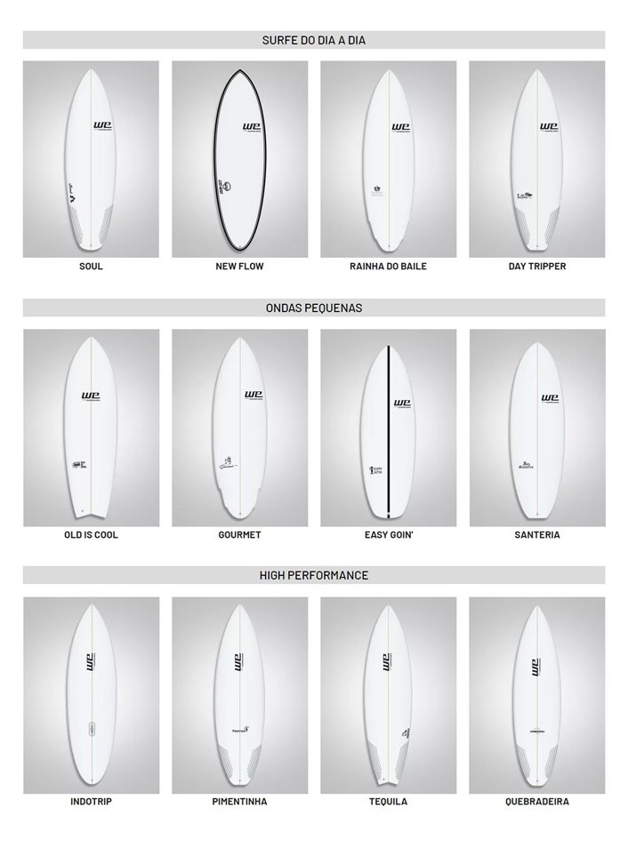 we surfboards, pranchas de surf, quiver