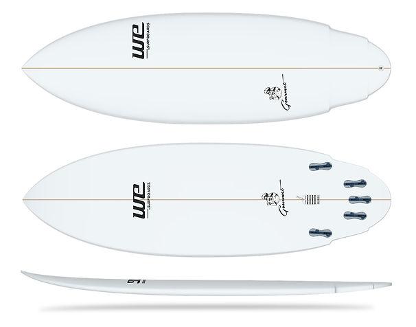 gourmet wesurfboards prancha de surf para iniciantes branca merreca wing