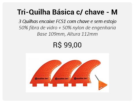 01- Tri-Quilha básica com chave M - lara