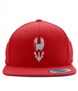 Helmet Snapback - White/Red